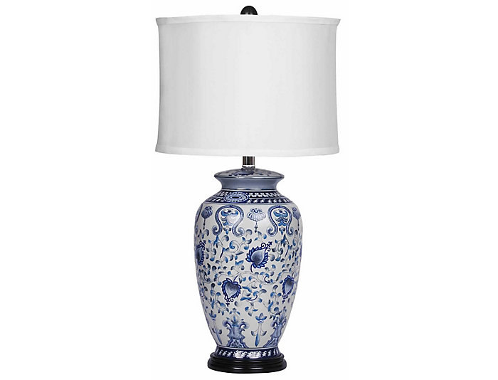 Asian Blue Table Lamp, , large