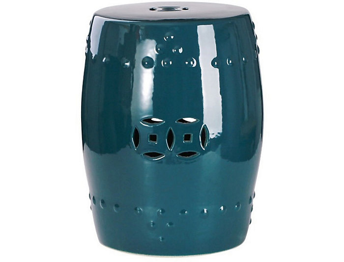 Kimsey Teal Garden Stool