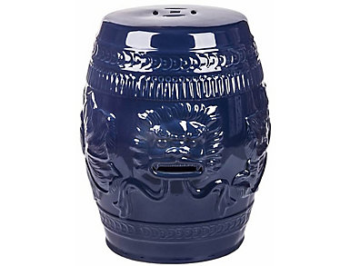 Liona Navy Garden Stool, , large