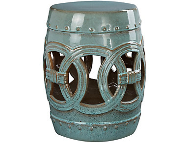 Nolina Teal Garden Stool, , large