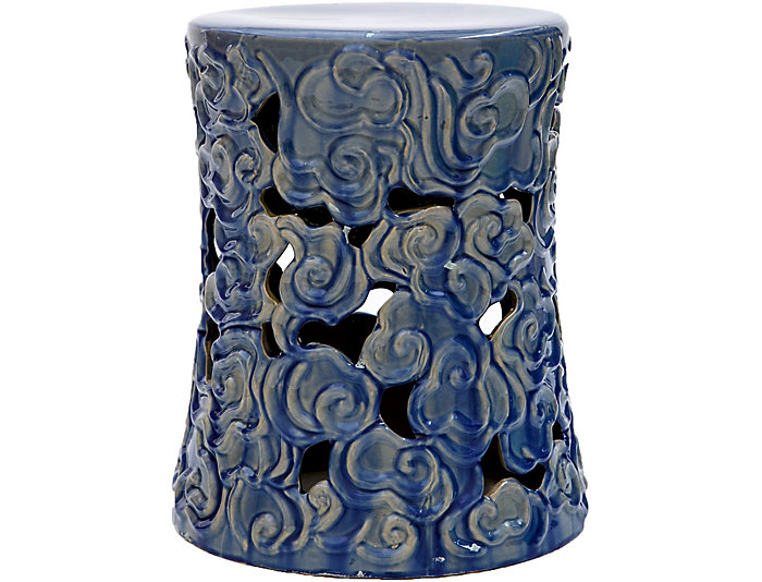 ... Pavilion Blue Garden Stool, , Large ...