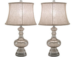 Celia Argus Glass Lamp Setof 2, , large