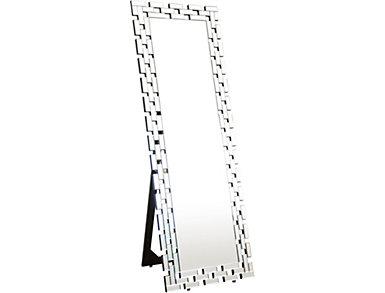 Augustine Silver Floor Mirror, , large