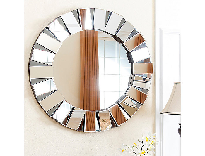 Portico Round Wall Mirror, , large