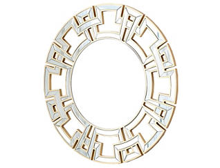 Pierre Gold Round Wall Mirror, , large