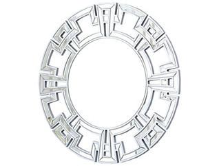 Pierre Silver Round Mirror, , large