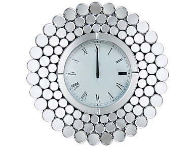 Radiance Round Mirror Clock, , large