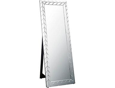 Antoinette Silver Floor Mirror, , large