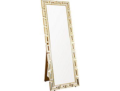 Alfreda Gold Floor Mirror, , large
