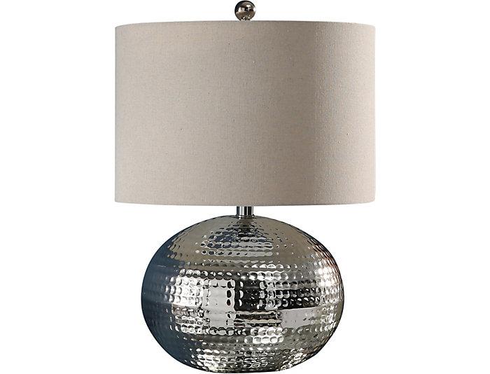 Aurora Silver Table Lamp Art Van Home
