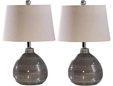 Dakota Grey Table Lamp Set/2, , large