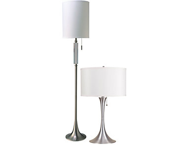 Brushed Silver Cody Lamp, , large