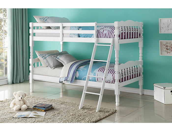 Homestead White Twin Bunk Bed, , large