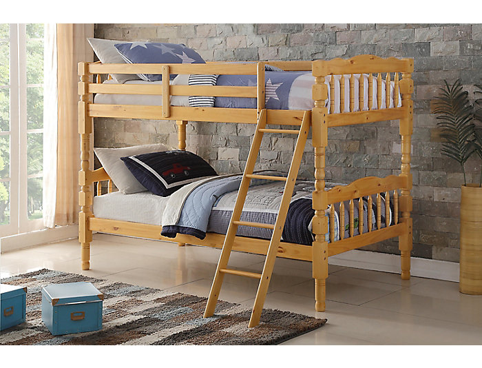 Homestead Beige Twin Bunk Bed, , large