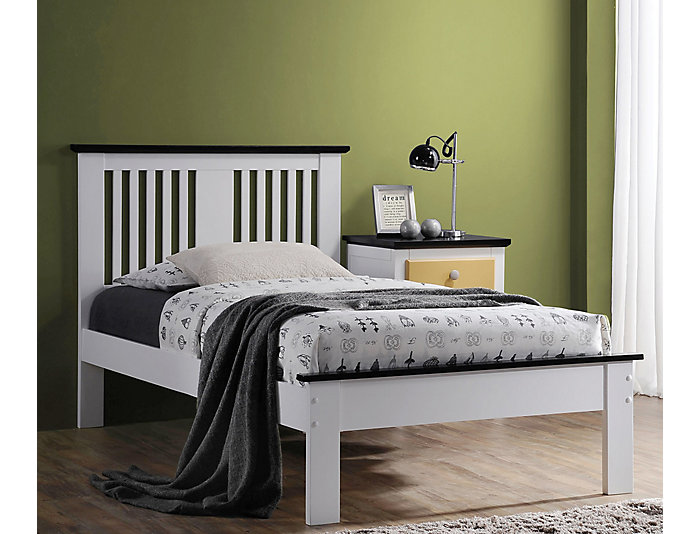 Brooklet Monochrome Twin Bed, , large