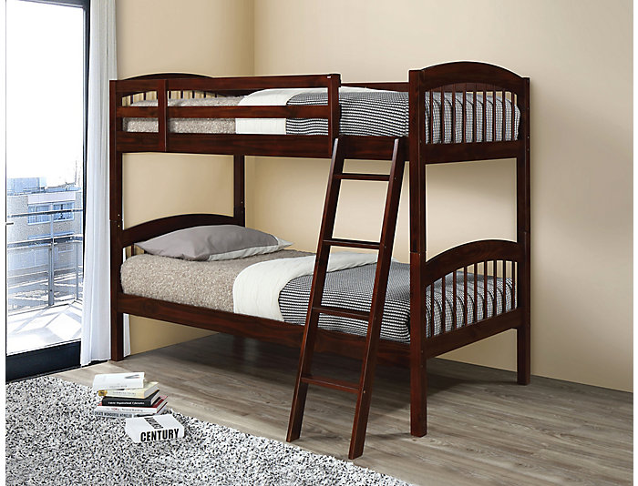 Manville Coffee Twin Bunk Bed, , large