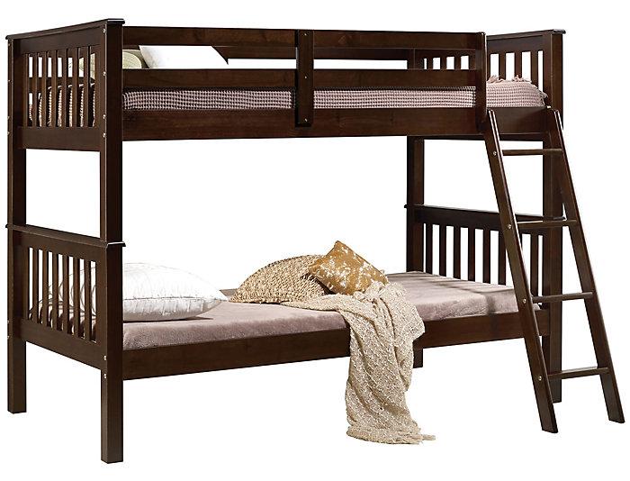 Searra Espresso Twin Bunk Bed, , large