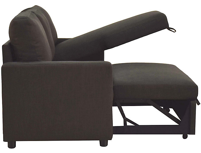 Russell Sectional Sleeper, Charcoal, , large