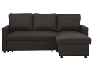Russell Charcoal Sectional Sleeper, , large