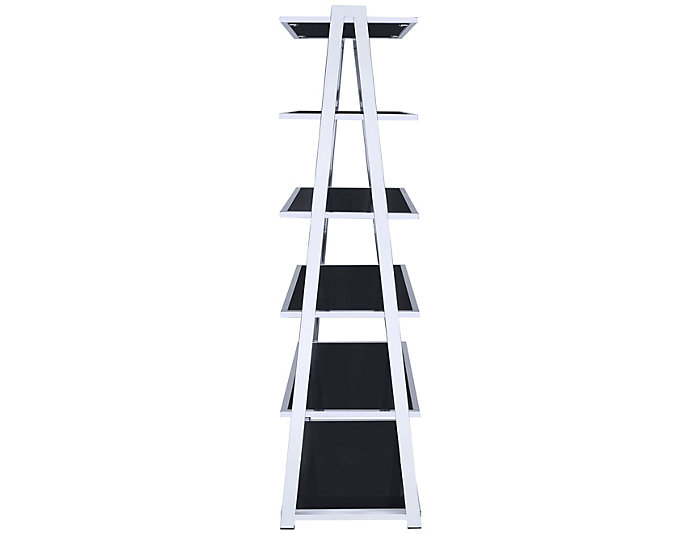 Coleen Black Leaning Bookcase