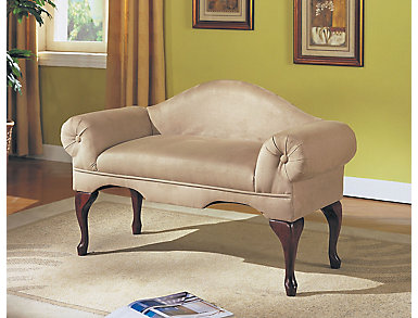 Aston Beige Bench with Back, , large