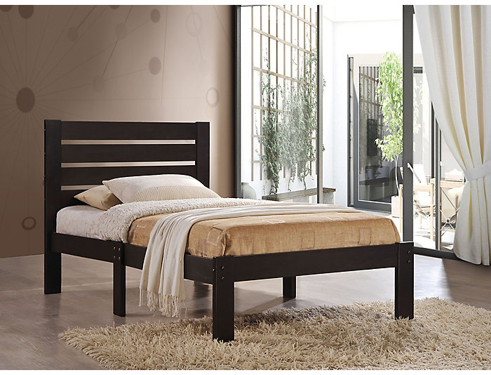 Kenney Espresso Twin Bed, , large