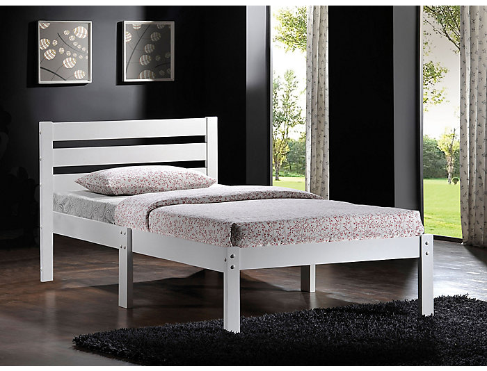 Donato White Twin Bed, , large