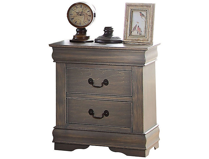 Louis Philippe Gray Nightstand, , large