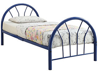 Silhouette Blue Twin Bed, , large