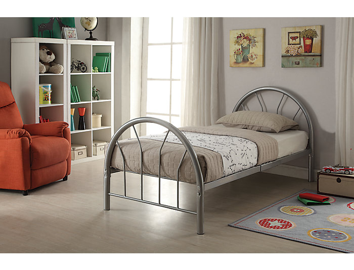 Silhouette Silver Twin Bed, , large