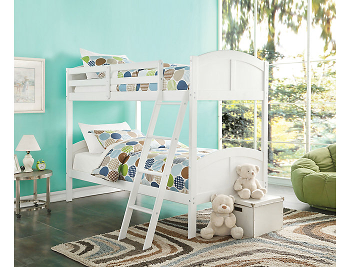 Toshi White Twin Bunk Bed, , large