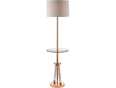 Allegan Rose Gold Floor Lamp, , large