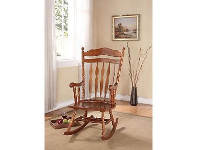 Mia Dark Walnut Rocking Chair, , large