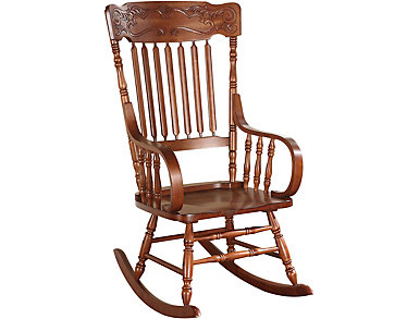 Mia Tobacco Rocking Chair, , large