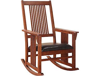 Mia Brown Rocking Chair, , large