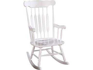 Mia White Rocking Chair, , large