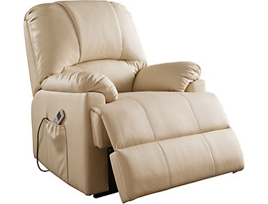Keely Beige Lift Recliner, , large