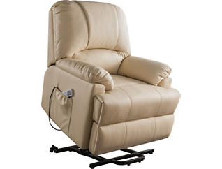 Keely Beige Lift Chair Recliner, Beige, large