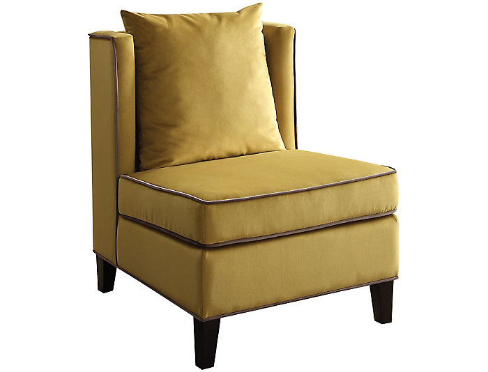 Ozella Armless Chair, Yellow, , large
