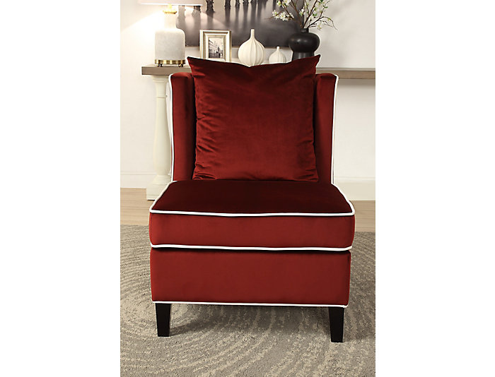 Ozella Armless Chair, Red, , large