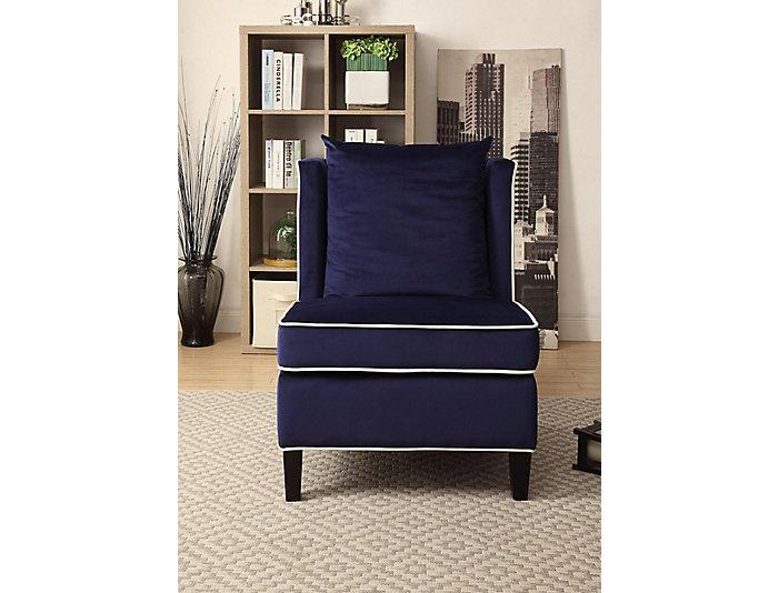 Ozella Armless Chair, Blue, , large