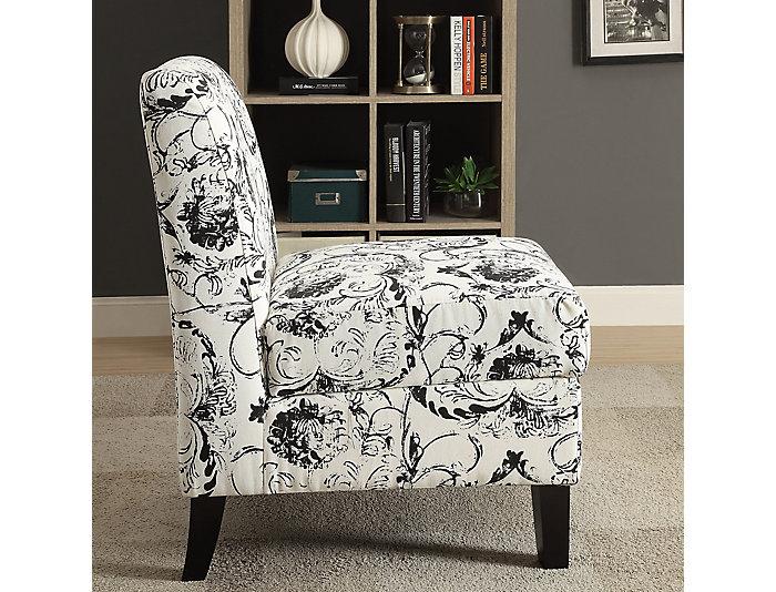 Storage Armless Chair, Cream, , large