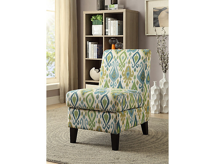 Storage Armless Chair, Green, , large