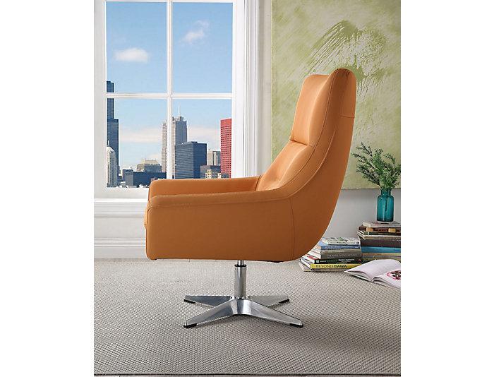 Starla Accent Chair, Orange, , large