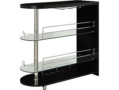 Malou Black & Chrome Bar Table, , large