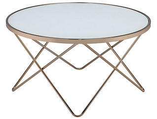 Valora Frosted Coffee Table, Gold, , large