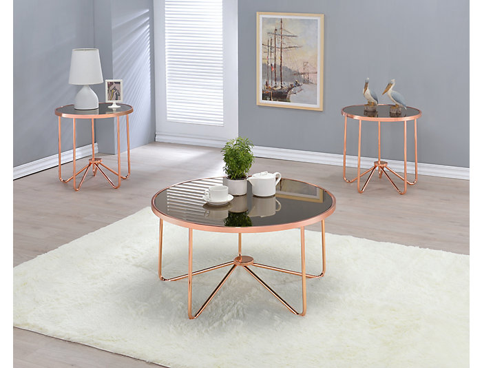 Alivia Coffee Table, Gold, , large