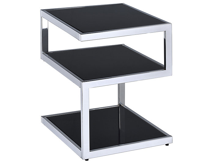 Alyea Chrome End Table, Silver, , large