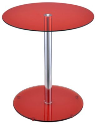 Halley End Table, Red, swatch