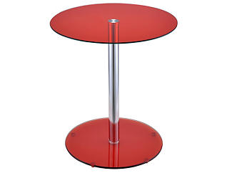 Halley End Table, Red, large